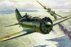 Polikarpov I-16 by Andrey Zhirnov