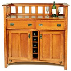 Arts and Crafts Wine Cabinet - Readers Gallery - Fine Woodworking - My Easy Woodworking Plans Custom Woodworking, Fine Woodworking, Woodworking Projects, Woodworking Magazines, Woodworking Classes, Woodworking Apron, Woodworking Equipment, Mission Furniture, Craftsman Furniture