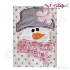 Applique (All) - Snowman Applique on sale now at Embroitique!