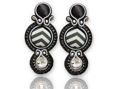 Earrings Soutache - Audrey #Soutache #earrings, Soutache #jewerly, #handmade jewerly, #bijoux, #orecchini, #pendientes #fashion #design #madeinitaly -