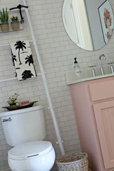 Powder Bathroom Makeover - Our Fifth House