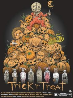 Trick r' Treat Horror Movie Poster