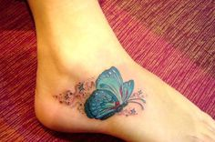 Butterfly Ankle Tattoo - 60+ Ankle Tattoos for Women | Art and Design