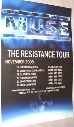Muse Poster Concert $9.84 #Muse #Resistance