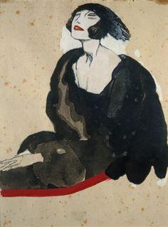 """Museu Calouste Gulbenkian / António Soares (Lisboa 1894-Lisboa 1978) - """"No Teatro"""" (In the theatre), 1922"""