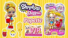 Shopkins Shoppies Popette Doll Unboxing + Shopkins App VIP Card | Kids P...