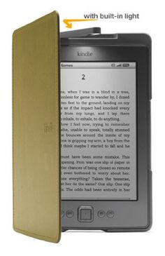 Amazon Kindle Lighted Leather Cover, Olive Green (does not fit Kindle Touch or Kindle Keyboard)