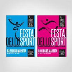 Comune di Mondolfo  Progetto grafico campagna pubblicitaria evento Festa dello Sport Manifesti da affissione f.to 70×100 cm