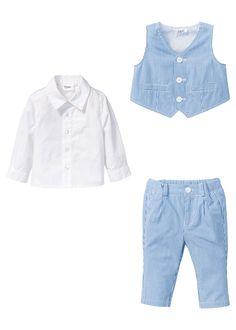 Bebek Giyim Gömlek   Yelek   Pantolon Takımı beyaz/mavi Şimdi bonprix.com.tr Online shop'ta başliyan 79,99 TL sipariş bpc marka, gömlek, yelek ve ...