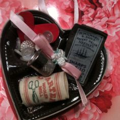 Valentine ornament made from recycled chocolate box