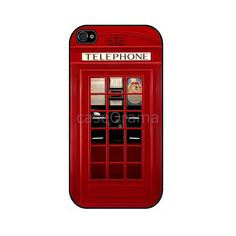 LONDON Telephone British Rubber iPhone Case iPhone 4, iPhone 4 case, iPhone 4S case, iPhone cover, iPhone iPhone silicone cover. $19.00, via Etsy.
