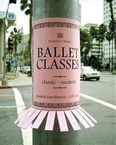 Marketing rétro : street pub pour cours de danse classique