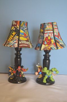 Avengers Lamp-Children by SketchesBySherri on Etsy