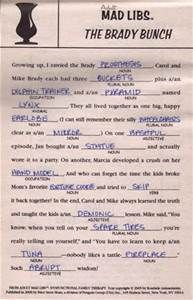 Mature mad libs curious topic