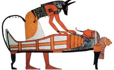 Egyptian Name:Anubis Role & Function:His function is described as being the god of the dead, tombs and embalming Province:The Underworld (Duat) Symbols:Imiut fetish, the flail, the crook and a 'was' sceptre, the jackal dog Alternative Names:Anpu, Anup and Imiut (Lord-of-the-Place-of-Embalming)