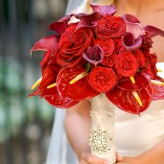 love the calla, roses and anthurium flowers