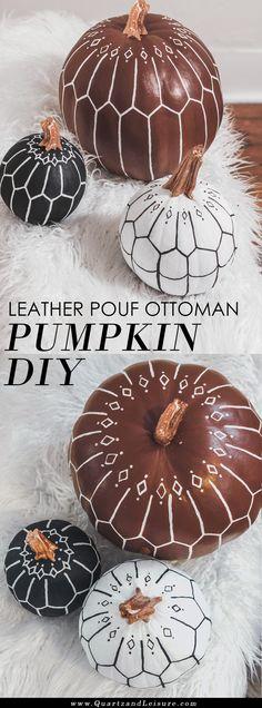 Bohemian Pumpkin Decorating DIY - Modern Pumpkin Decor