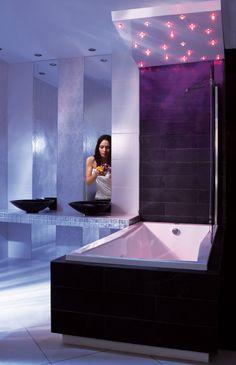 """Wellness Badewanne mit LED-Lichttherapie + Fernbedienung inkl. Chromoprogrammen, 170/75 cm, MADULU. Erhältlich im Ebay-Shop """"Bluemabell"""""""