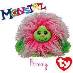 Frizzy the long haired Monstaz Beanie from Ty!