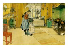 The Kitchen by Carl Larsson.  My favorite painting  of his.