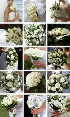 bouquets in white...