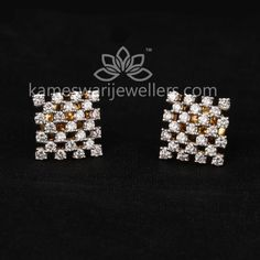Mesmerizing collection of gold earrings from Kameswari Jewellers. Shop for designer gold earrings, traditional diamond earrings and bridal earrings collections online. Diamond Earrings Indian, Gold Bar Earrings, Buy Earrings, Jewelry Design Earrings, Gold Earrings Designs, Earrings Online, Diamond Jewelry, Gold Jewelry Simple, Ring Verlobung