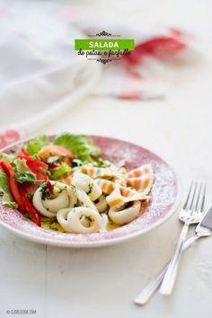 Salada de potas e farfalle