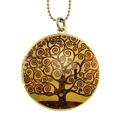 Klimt Tree of Life Brass Photo Locket Pendant - Art Locket >> LEARN MORE INFO @: http://splendidjewelry4u.com/klimt-tree-of-life-brass-photo-locket-pendant-art-locket/