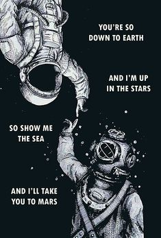 'Astronaut and Diver – I'm Up in The Stars' Poster by Millions of unique designs by independent artists. Find your thing. Space Artwork, Space Drawings, Wallpaper Space, Space Odity, Os Wallpaper, Beach Wallpaper, Astronaut Drawing, Astronaut Tattoo, Canvas Prints