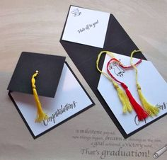 graduation cards mortarboard by tessaduck - Cards and Paper Crafts at Splitcoaststampers. She calls it a fancy fold card. I call it clever. Like the grad quote too. Fun Fold Cards, Folded Cards, Diy Cards, Graduation Diy, Graduation Invitations, Graduation Announcements, Graduation Cards Handmade, Preschool Graduation, Graduation Parties