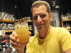 Chef owner Luke Dale-Roberts of The Pot Luck Club with the Earl Grey and Cocoa Bean Iced Tea. Picture: Neil Baynes