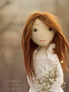 Nataly OOAK textile handmade doll example by romanticwonders, €200.00
