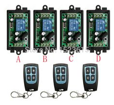New DC12V  1CH 10A Wireless Remote Control Switch System 4*Receiver and 3*Transmitter  For Applicance Garage Door