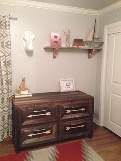 Rustic dresser/changing table. Jlwoodworx.com. Follow me on Instagram at jlwoodworx!