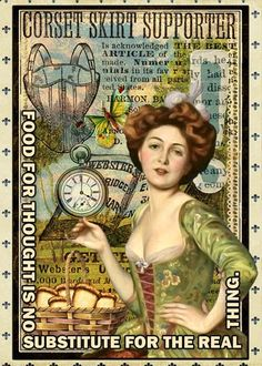 AlterNative_ATC_Food-SM artist trading card from digital scrapbook place