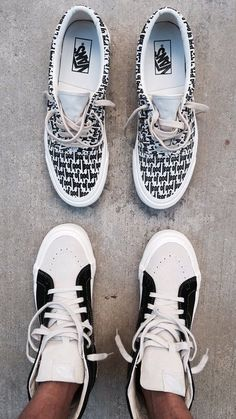 Fear of God x Vans. PS I like the highs better. Sock Shoes, Vans Shoes, Sneaker Art, Fresh Outfits, Fresh Shoes, Desert Boots, Thigh High Boots, Shoe Game, Women's Pumps