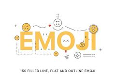 Line emoji by denisgorelkin on @creativemarket