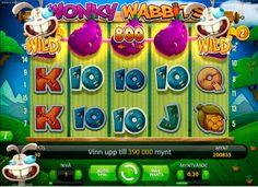 Galet och roligt kommer du säkert att ha när du spelar vår nya spelautomat Wonky Wabbits!   Läs mera om galna kaninen och Wonky Wabbits i vår blogg: http://blog.lyckoskrapet.com/2014/02/27/wonky-wabbits/