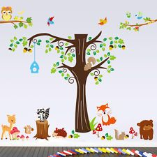 Wandtattoo Kinderzimmer Wald Prinsenvanderaa