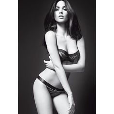 Megan Fox For Emporio Armani Underwear Spring Summer 2010 Ad Campaign... ❤ liked on Polyvore featuring megan fox, models, people and backgrounds