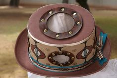This is a painted Vented Hat created by Susan Holt, the originator of the Vented Hat.  https://www.etsy.com/shop/saholtartist1