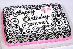 pink-black-birthday-cake