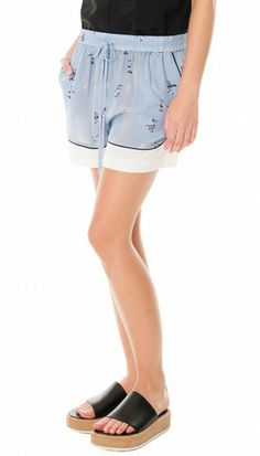 @Tibi New York New York Rio drawstring shorts