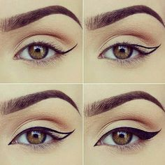 First step I Use a pencil black eye liner( incase I get uneven wings ) and than I use liquid liner throughout these steps