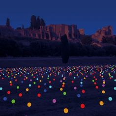 Notte Bianca di Roma: globi luminosi al Circo Massimo