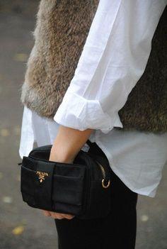 Prada bag. http://www.annabelchaffer.com/categories/Ladies-Hats-%26-Furs/