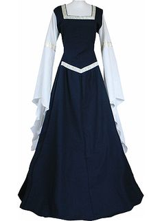 Adult's Medieval Dress Gothic Victorian Medieval Manorial Dress Civil War Dress Costume Cosplay for Halloween Carnival Party Womens Medieval Dress, Medieval Gown, Medieval Fashion, Medieval Clothing, Gypsy Clothing, Medieval Dress Pattern, Old Dresses, Pretty Dresses, Beautiful Dresses
