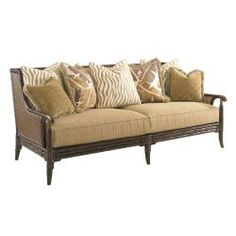 Shop for Tommy Bahama Home Landara Las Palmas Sofa, and other Living Room Sofas at Goods Home Furnishings in North Carolina. Living Room Chairs, Home Living Room, Campaign Furniture, Lexington Home, Sofa Furniture, House Furniture, Outdoor Furniture, Cushions On Sofa, Pillows