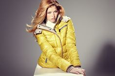 "#mabrun #connie #Jacket  A winter in Technicolor and warm like the yellow down jacket, made with nylon fabric, flannel details and ""cookies"" piping in contrast. Soft and super practical, it's perfect to fight the cold weather with energy.    Let's have a look on http://www.mabrun.com/"