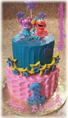 Abby Cadabby Birthday Cake By HeatherH On CakeCentralcom Cakes - Elmo and abby birthday cake